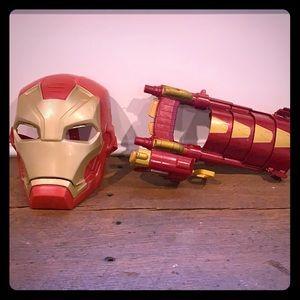 Ironman mask an arm guard